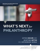 Whats Next for Philanthropy