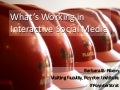 What's Working in Interactive Social Media