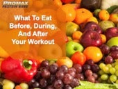 Eating Before, During and After Workout