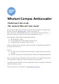 Whatuni campus ambassador wanted - earn up to £500 at Uni