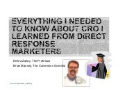 What We Can Learn from Direct Marketers by Brian Massey and Debra Zahay