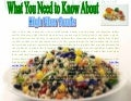 What you need to know about high fiber foods