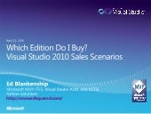 Which Visual Studio 2010 Edition Do...