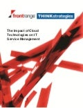 The Impact of Cloud Technologies on ITSM