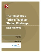 Talent Wars: Today's Toughest Start...
