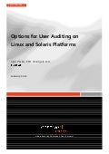 Whitepaper: User Audit Options for Linux and Solaris