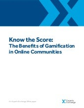 Know the Score: The Benefits of Gamification in Online Communities