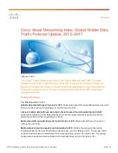 Cisco VNI Global Mobile Data Traffi...