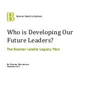 Who will develop our future leaders...