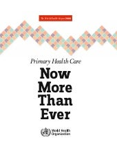 World Health Organization 2008 - Pr...