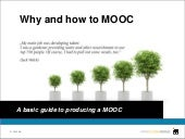 OpenCourseWorld - Why and how to MOOC