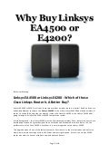 How To Tell If Linksys E4200 Is V1 Or V2