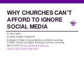 Why churches can't afford to ignore social media (for New Wine)