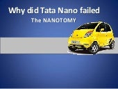 Why did tata nano failed