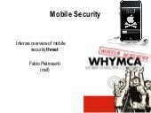 2010: Mobile Security - WHYMCA Deve...