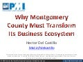 Why Montgomery County Must Transform Its Business Ecosystem - PMI-MoCo Chapter