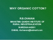 Why organic cotton, ngiri 28.6.2007
