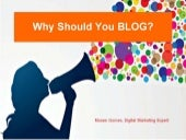 Why should you BLOG