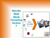 Why we need e-book formatting services