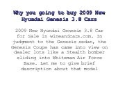 Why You Going To Buy 2009 New Hyund...