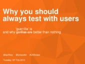 Why you should always test with users...