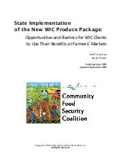 State Implementation of the New WIC...