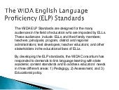 WIDA ELP Standards