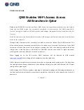 QNB Enables Wi-Fi Access Across All Branches in Qatar