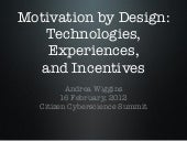 Motivation by Design: Technologies,...