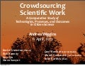 Crowdsourcing Scientific Work: A Comparative Study of Technologies, Processes, and Outcomes in Citizen Science