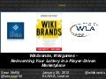 Wikibrands, Wikigames - Reinventing Your Lottery in a Player-Driven Marketplace