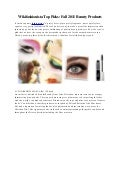 Wikifashionista Top Picks: Fall 2011 Beauty Products