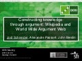 Wikipedia and World Wide Argument Web (DERI meeting 2010-12-03)