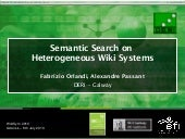 Semantic Search on Heterogeneous Wi...