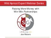 Free Expert Webinar: Raise More Money with Win Win Sponsorships with Joe Waters