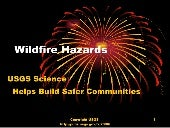 USGS Wildfire Hazards