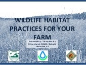 Wildlife Habitat Practices for Your...