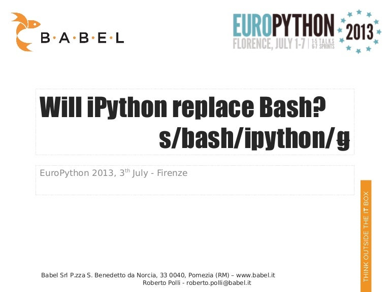 Will iPython replace bash? by Roberto Polli