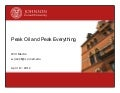 Peak Oil & Peak Everything Lecture at Cornell