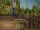 Soil quality - does it matter?