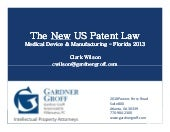 The New US Patent Law - From a Medi...