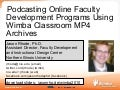 Online Faculty Development Programs - Wimba 2010 Distinguished Lecture