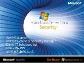 Windows 2008 Security