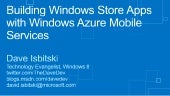 Windows Azure Mobile Services