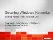 Windows network security