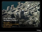 Windows Phone 7 Bing Maps Control