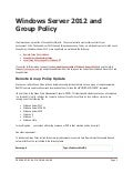 Windows server 2012 and group policy