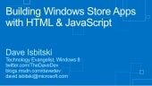 Windows Store Apps with HTML and JavaScript