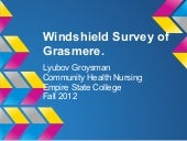 Windshield survey of grasmere, stat...