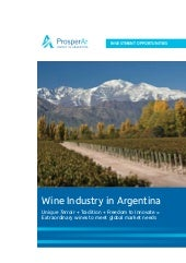 Wine Industry In Argentina - Septem...